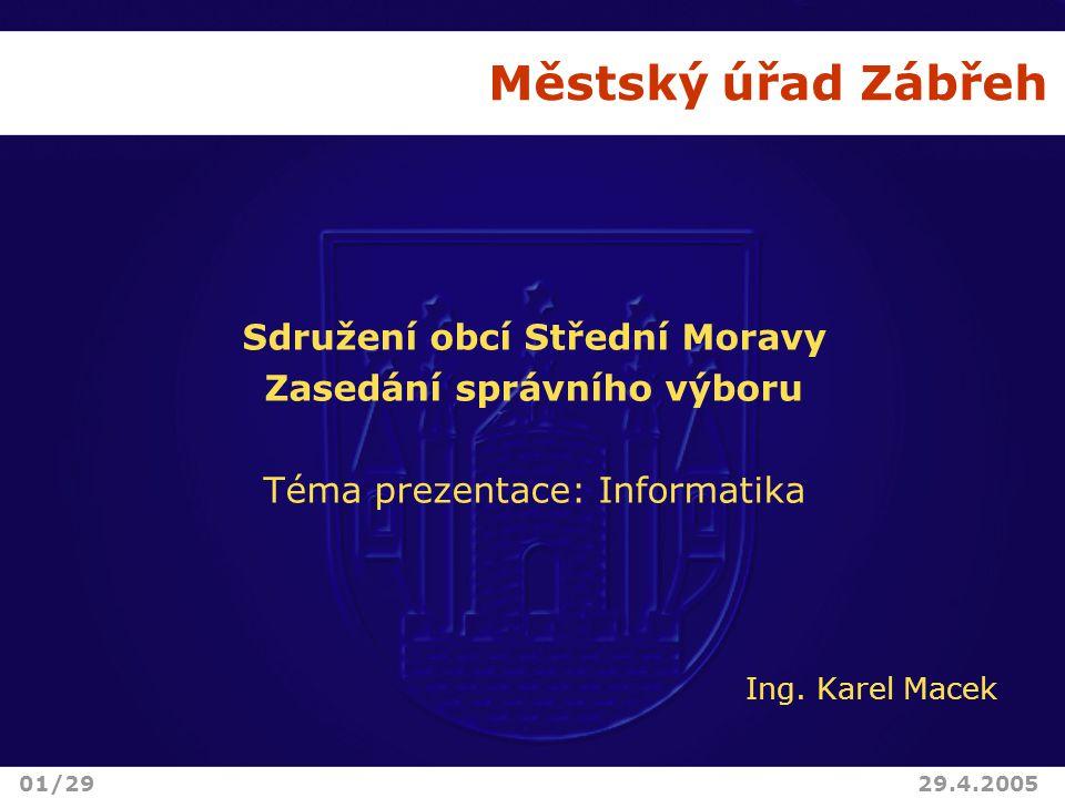Sdružení obcí Střední Moravy Zasedání správního výboru