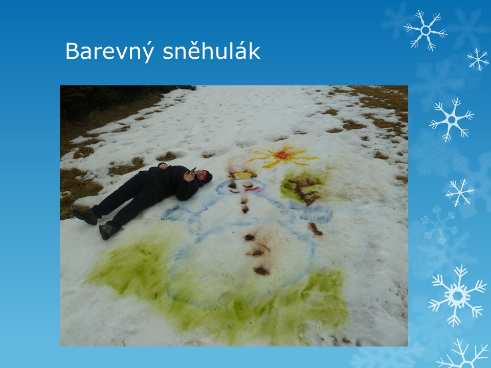 Barevný sněhulák