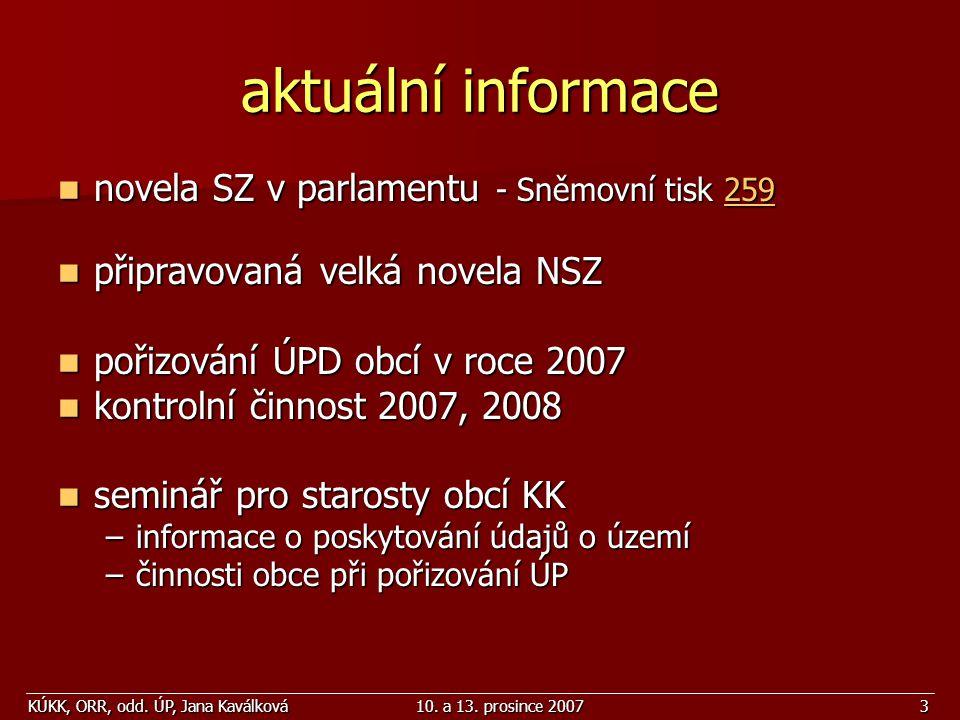 aktuální informace novela SZ v parlamentu - Sněmovní tisk 259