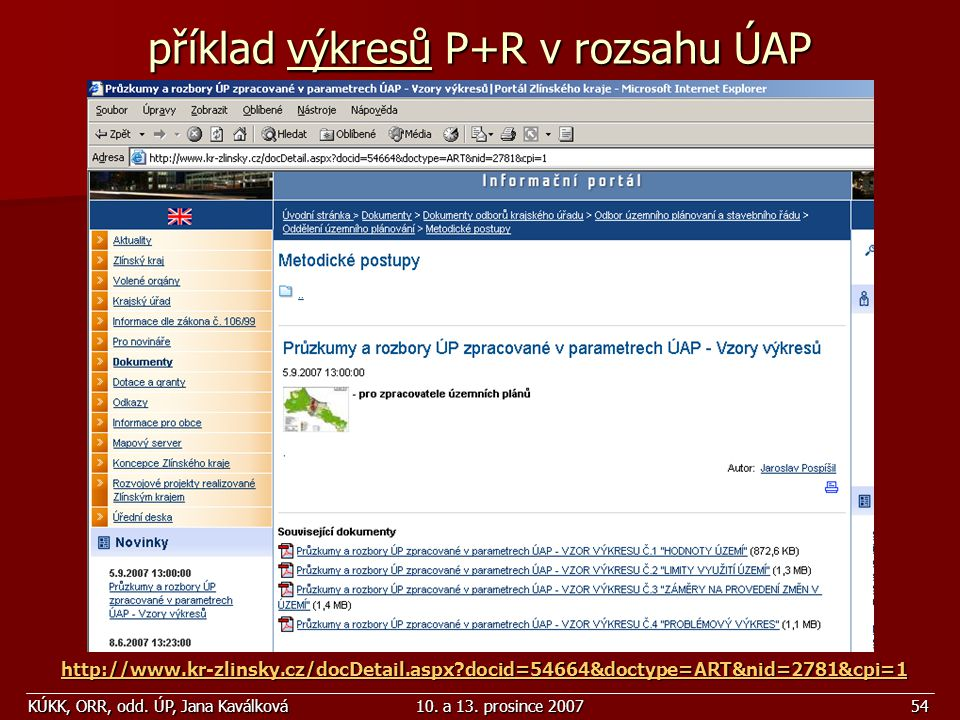příklad výkresů P+R v rozsahu ÚAP