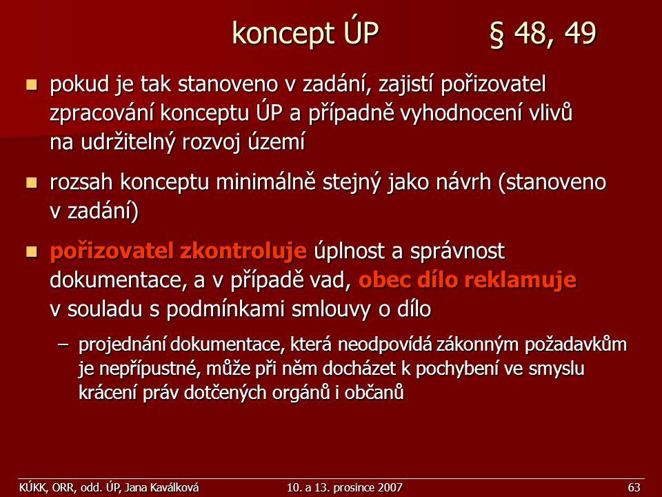 koncept ÚP § 48, 49