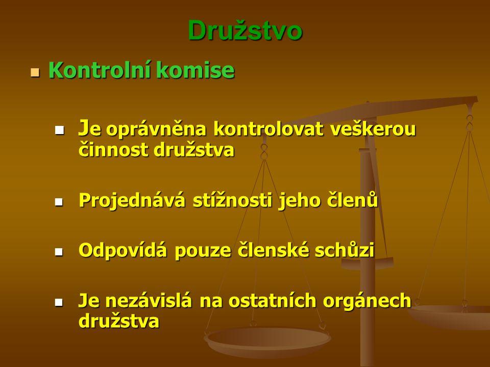 Družstvo Kontrolní komise