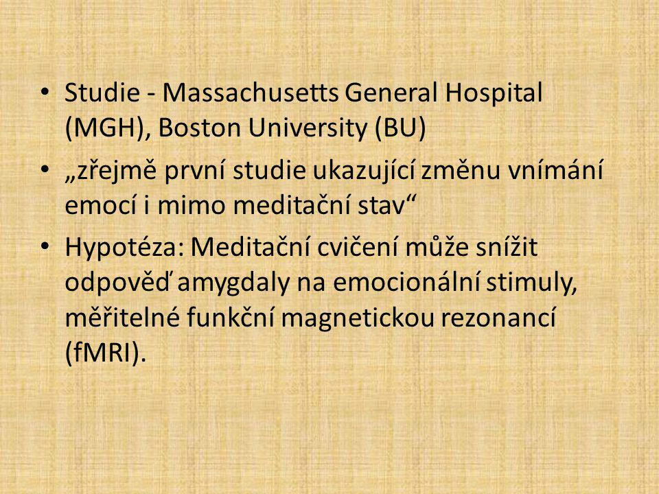 Studie - Massachusetts General Hospital (MGH), Boston University (BU)