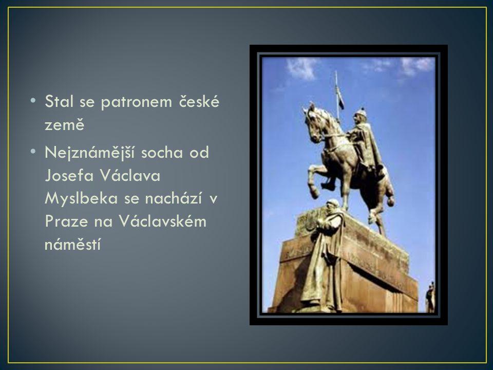 Stal se patronem české země