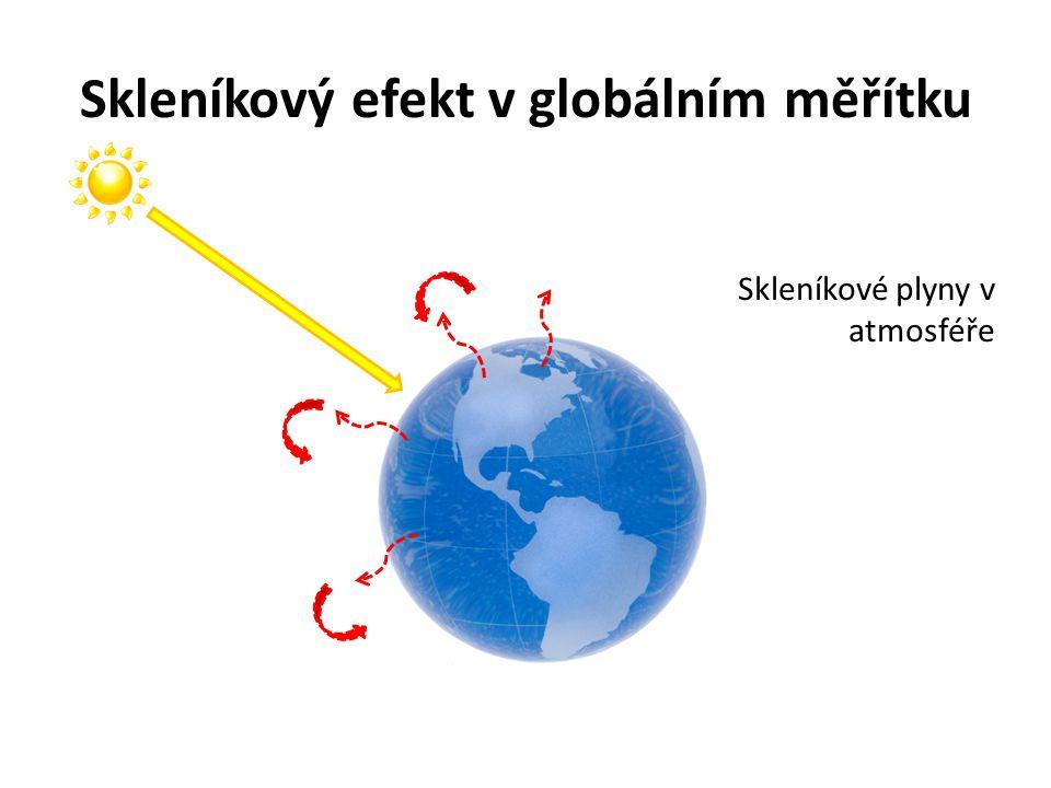Skleníkový efekt v globálním měřítku