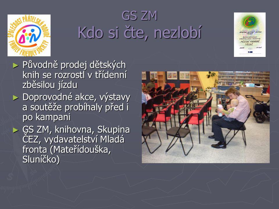 GS ZM Kdo si čte, nezlobí Původně prodej dětských knih se rozrostl v třídenní zběsilou jízdu.