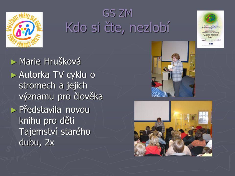 GS ZM Kdo si čte, nezlobí Marie Hrušková