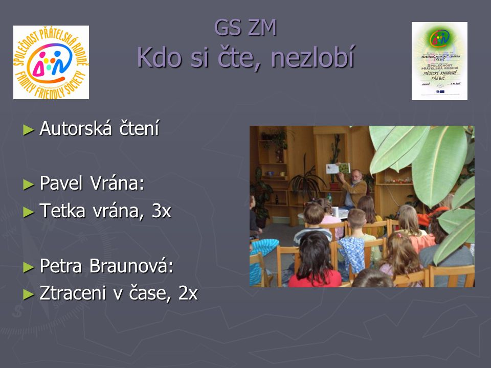 GS ZM Kdo si čte, nezlobí Autorská čtení Pavel Vrána: Tetka vrána, 3x