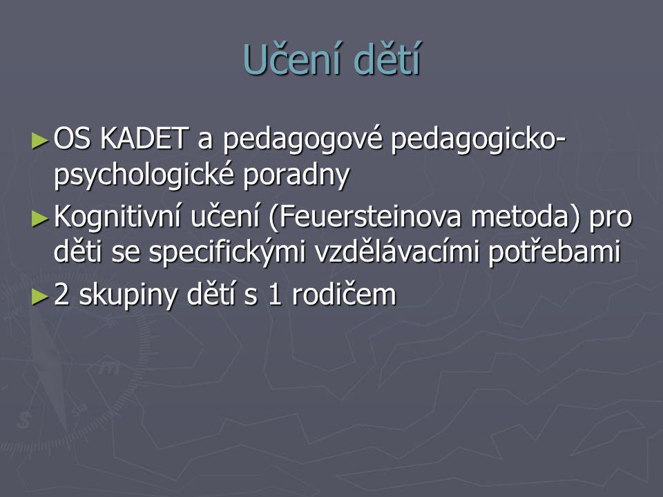 Učení dětí OS KADET a pedagogové pedagogicko- psychologické poradny