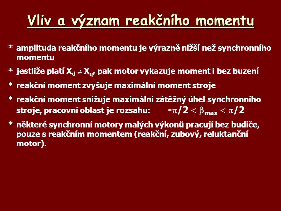 Vliv a význam reakčního momentu