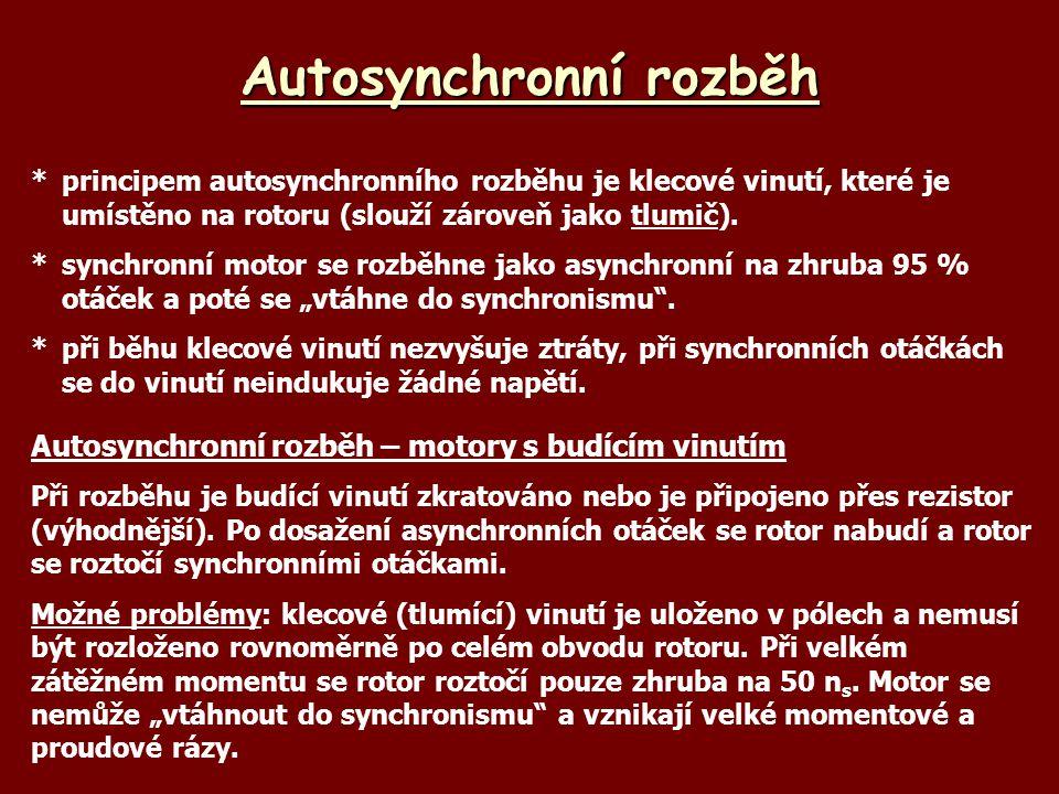 Autosynchronní rozběh