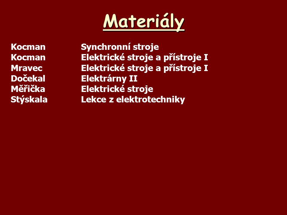Materiály Kocman Synchronní stroje