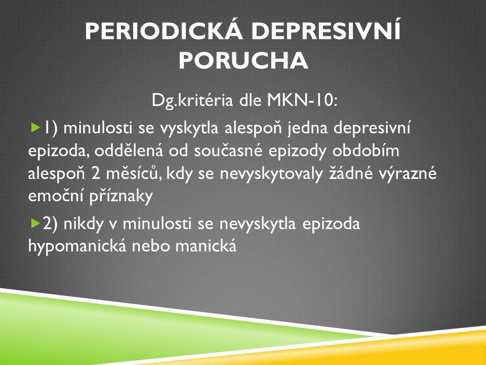 Periodická depresivní porucha