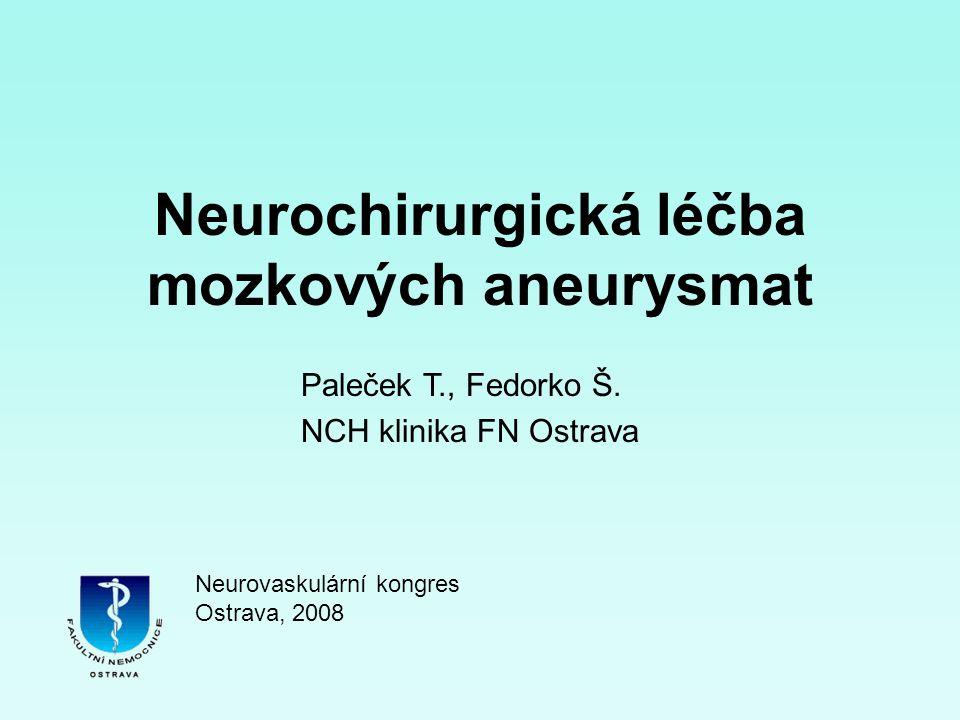 Neurochirurgická léčba mozkových aneurysmat