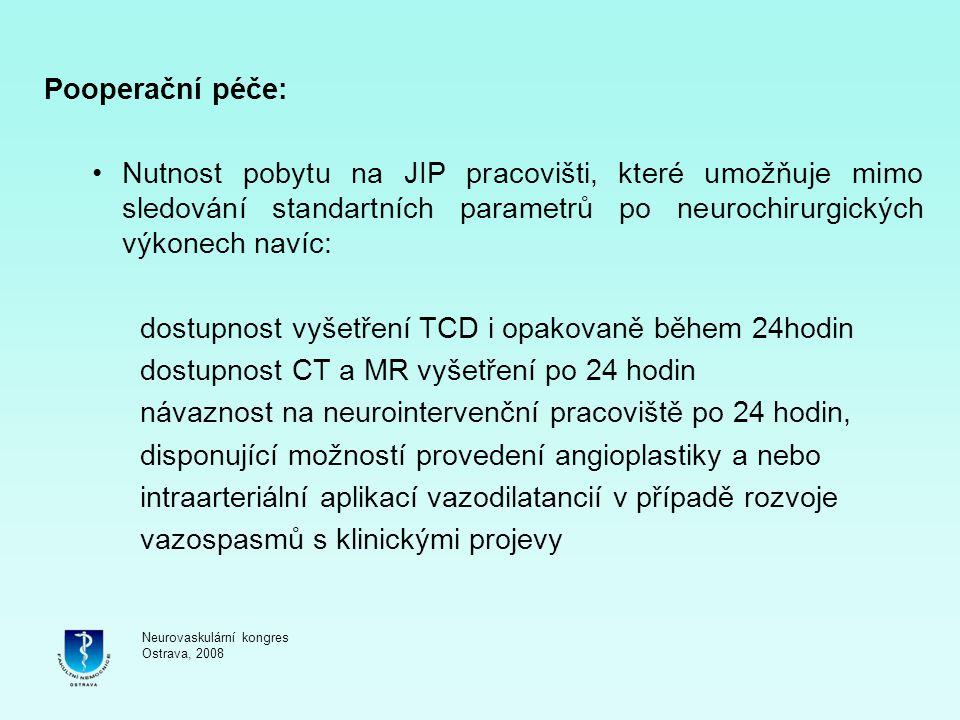 dostupnost vyšetření TCD i opakovaně během 24hodin
