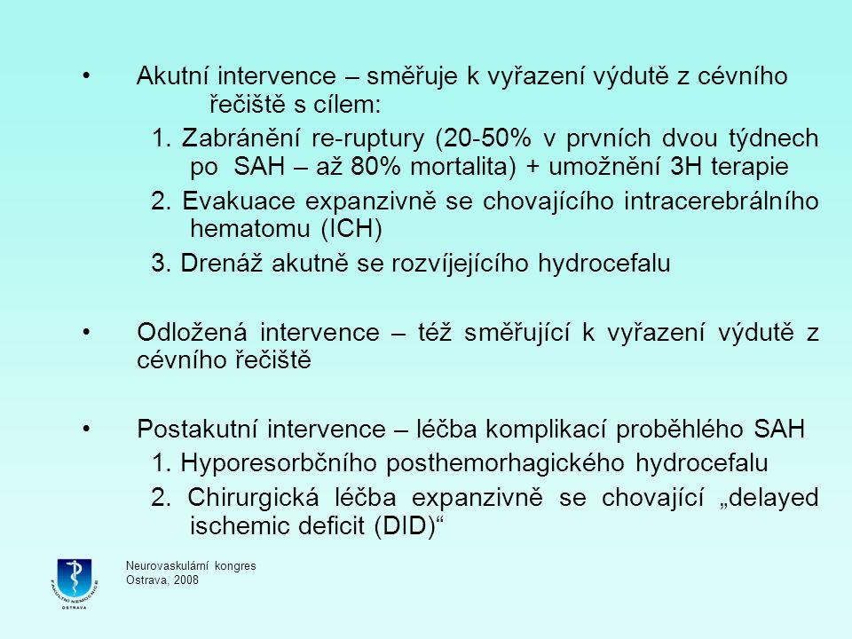 2. Evakuace expanzivně se chovajícího intracerebrálního hematomu (ICH)