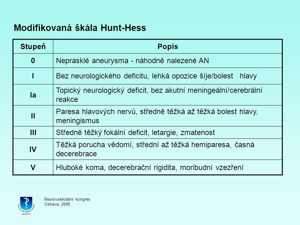 Modifikovaná škála Hunt-Hess