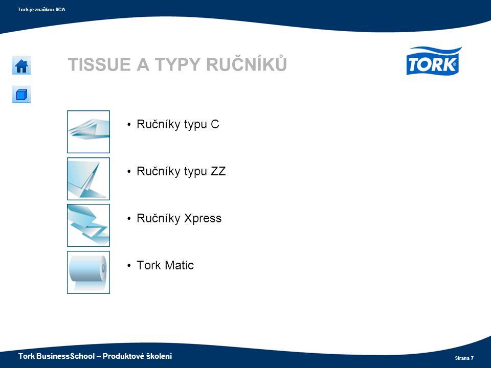 TISSUE A TYPY RUČNÍKŮ Ručníky typu C Ručníky typu ZZ Ručníky Xpress