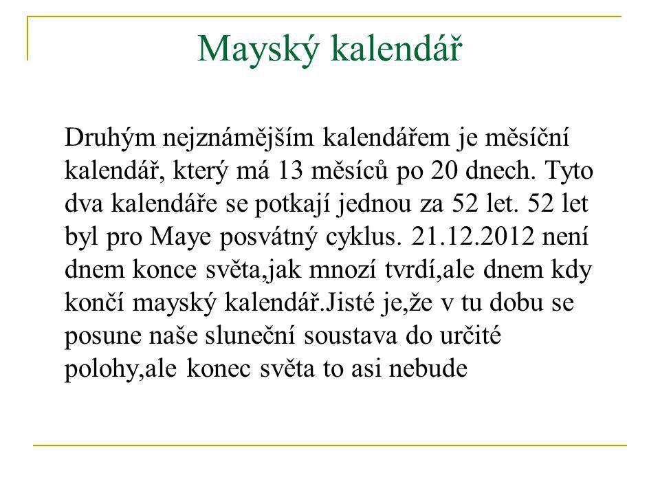 Mayský kalendář