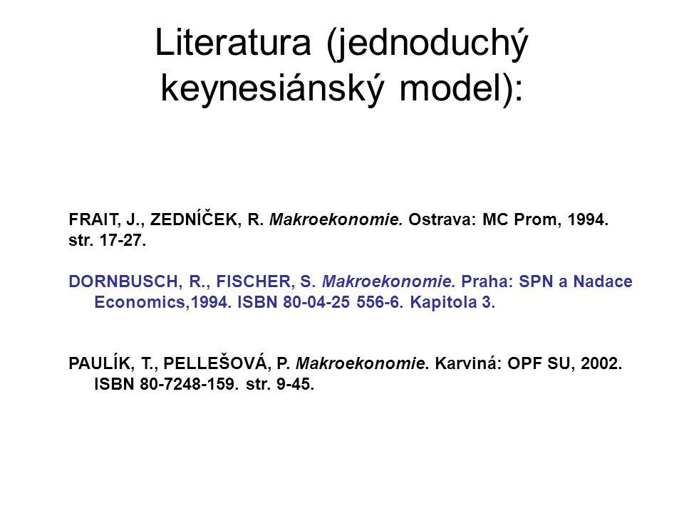 Literatura (jednoduchý keynesiánský model):