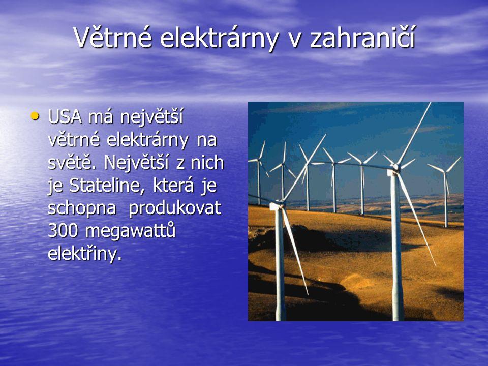 Větrné elektrárny v zahraničí
