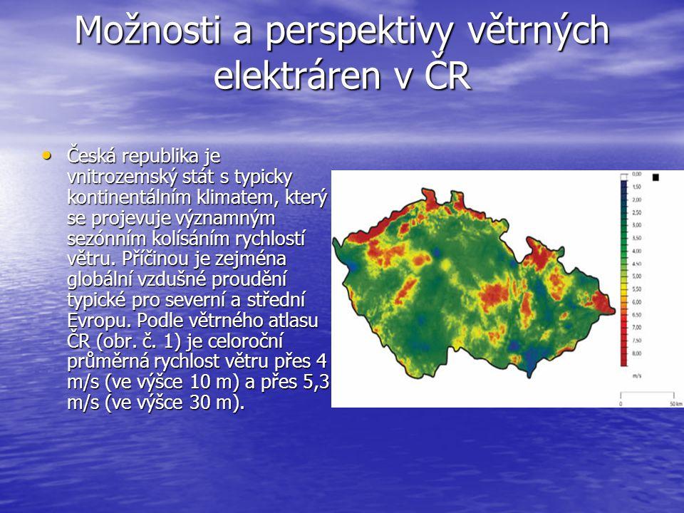 Možnosti a perspektivy větrných elektráren v ČR