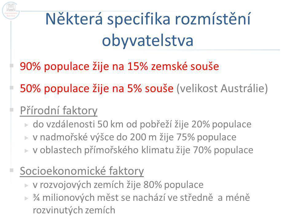 Některá specifika rozmístění obyvatelstva