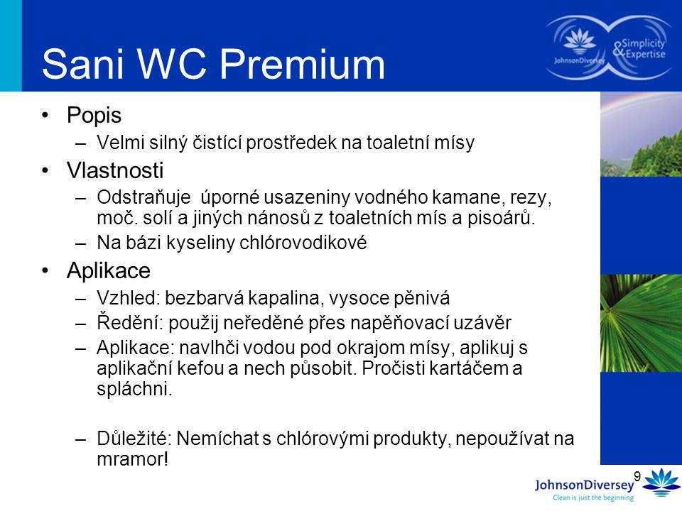 Sani WC Premium Popis Vlastnosti Aplikace