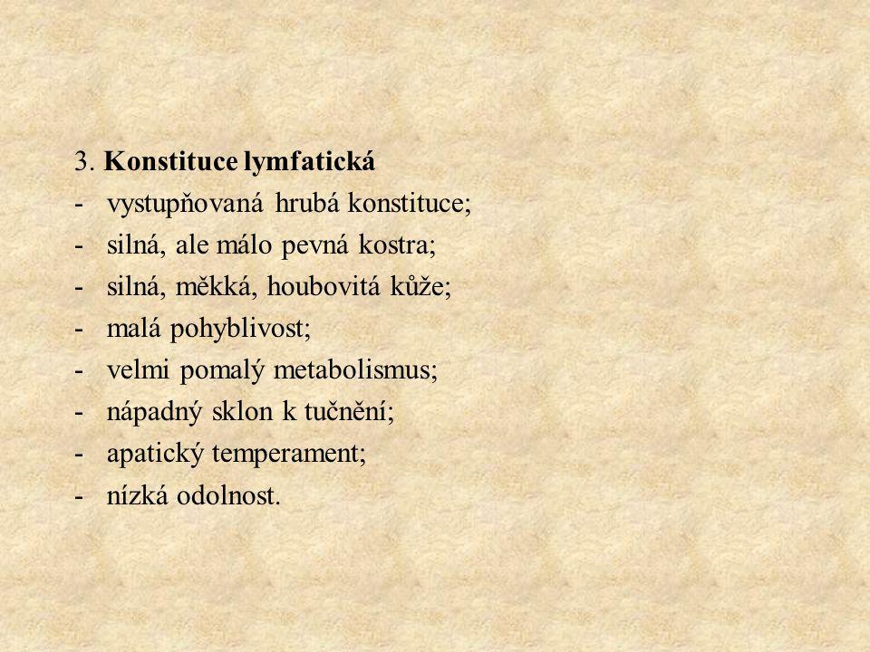3. Konstituce lymfatická