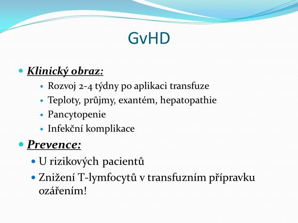 GvHD Prevence: U rizikových pacientů
