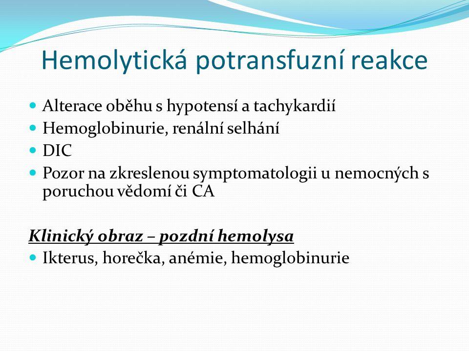 Hemolytická potransfuzní reakce