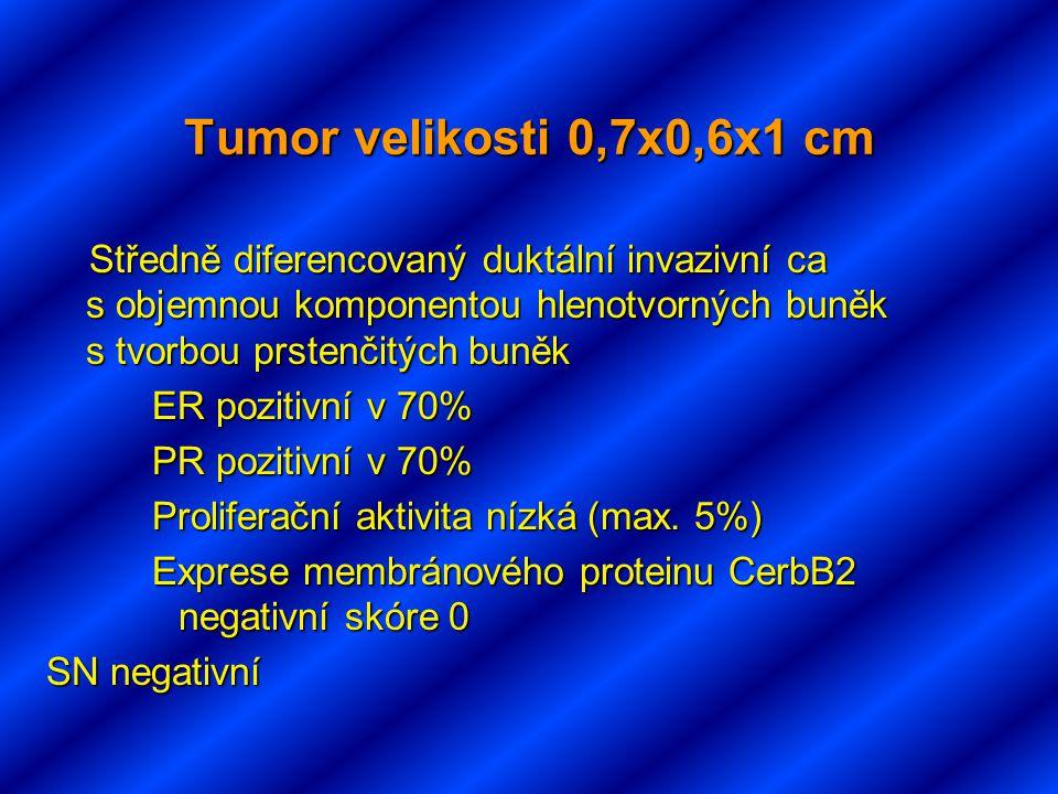Tumor velikosti 0,7x0,6x1 cm