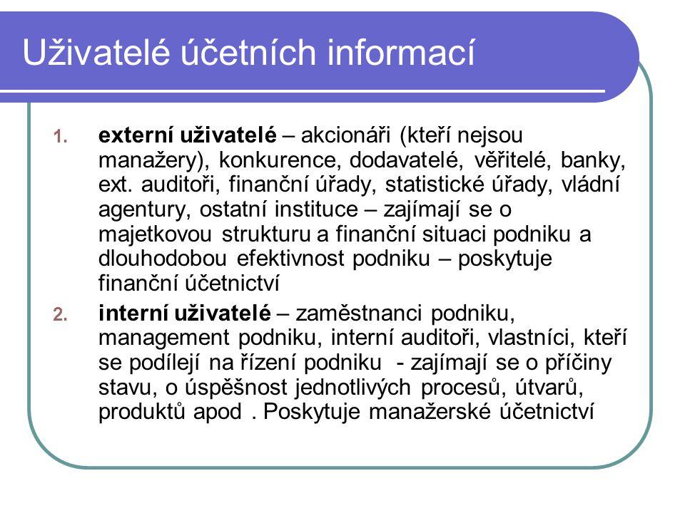 Uživatelé účetních informací
