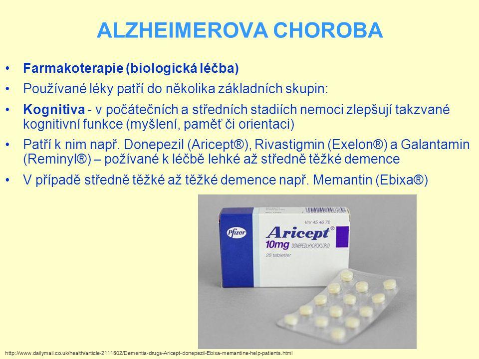 ALZHEIMEROVA CHOROBA Farmakoterapie (biologická léčba)