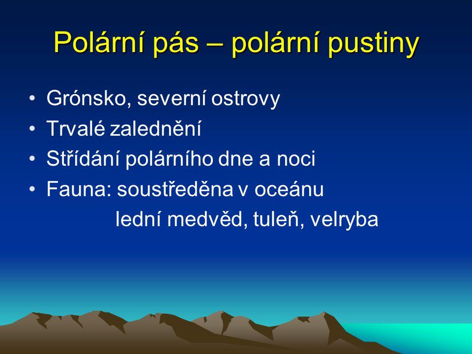 Polární pás – polární pustiny