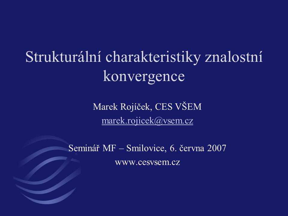 Strukturální charakteristiky znalostní konvergence