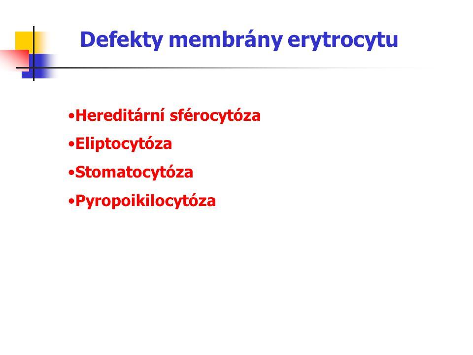 Defekty membrány erytrocytu