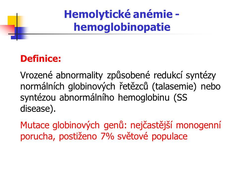 Hemolytické anémie - hemoglobinopatie