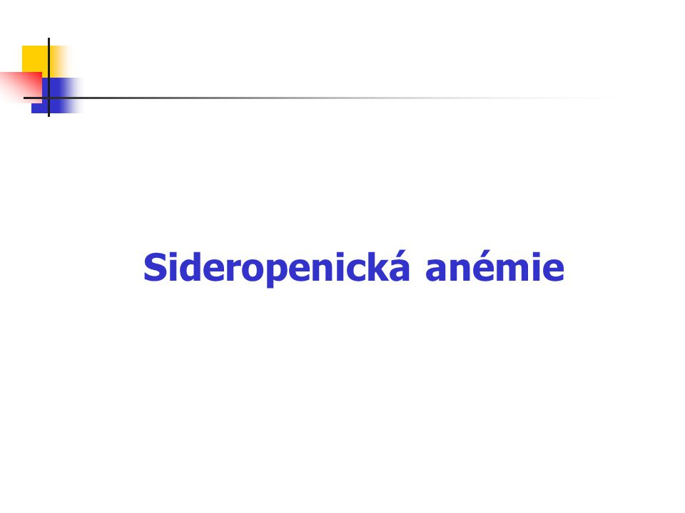 Sideropenická anémie