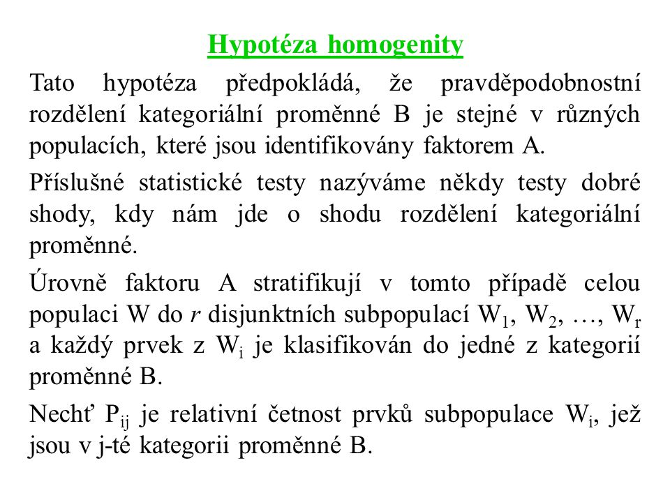 Hypotéza homogenity