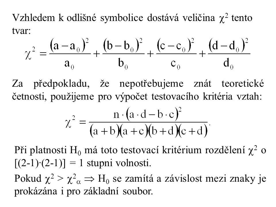 Vzhledem k odlišné symbolice dostává veličina 2 tento tvar: