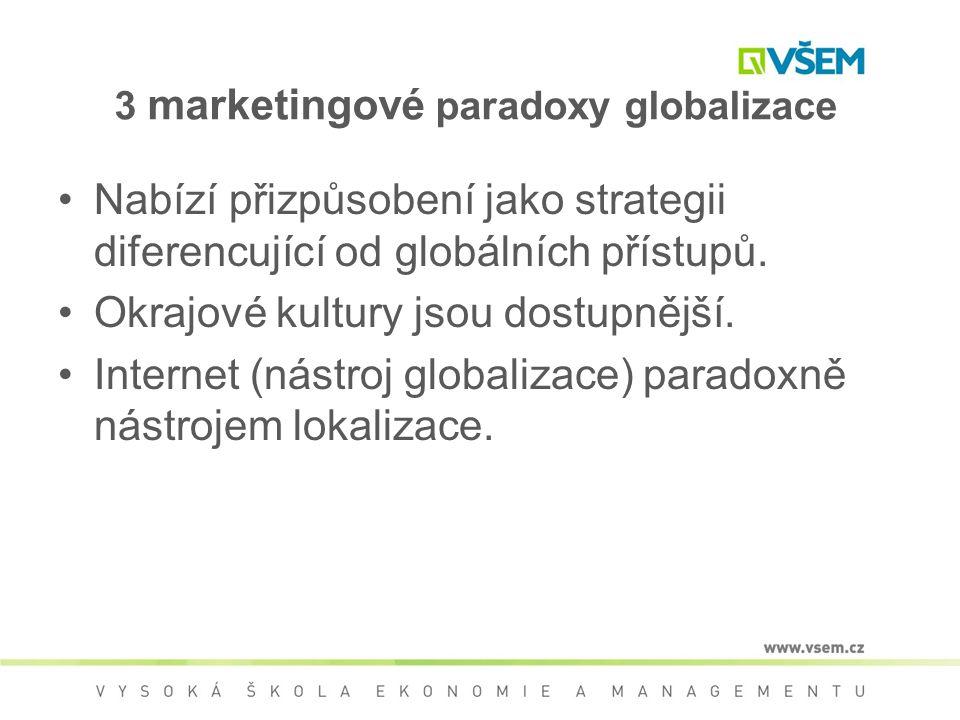 3 marketingové paradoxy globalizace