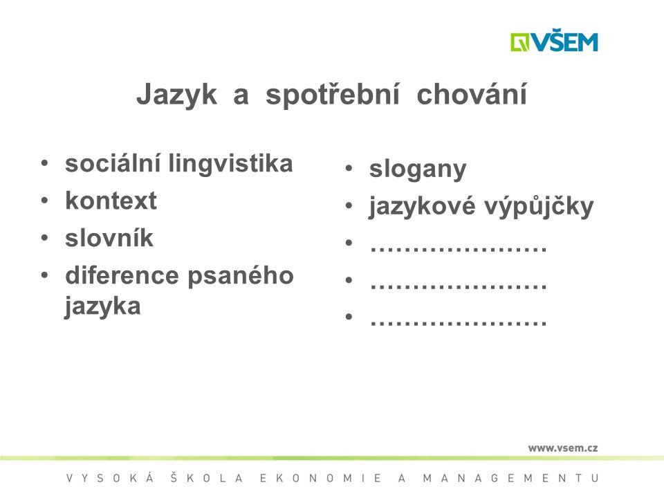 Jazyk a spotřební chování