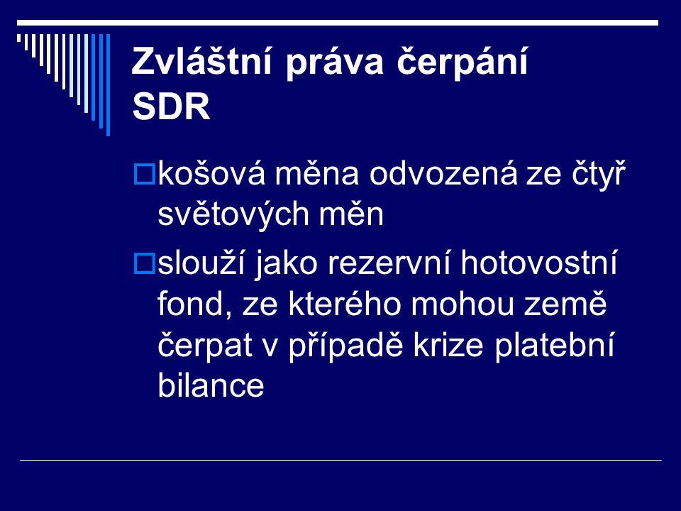 Zvláštní práva čerpání SDR