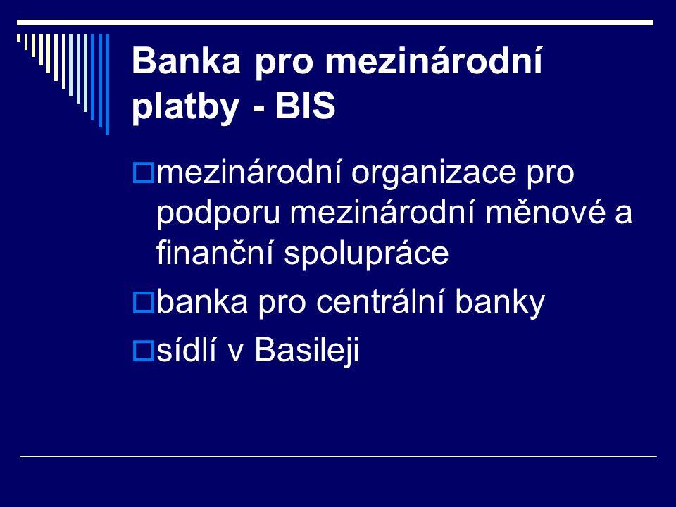 Banka pro mezinárodní platby - BIS