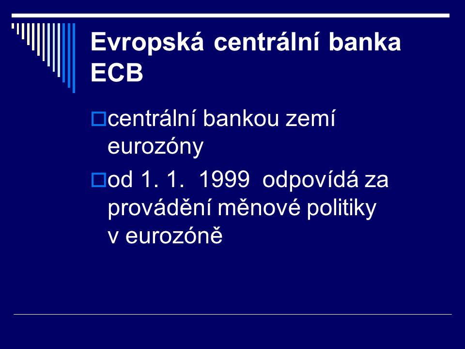 Evropská centrální banka ECB
