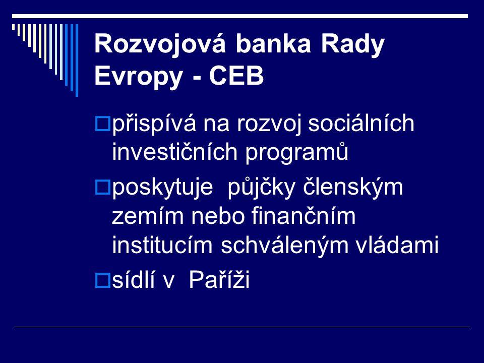 Rozvojová banka Rady Evropy - CEB