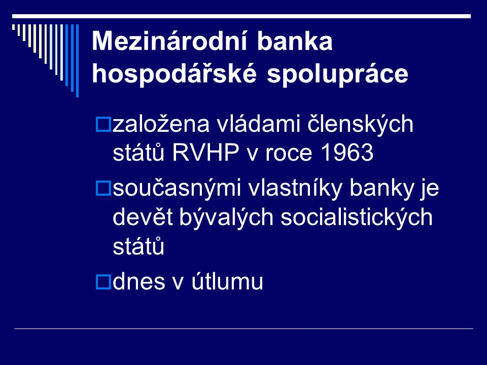 Mezinárodní banka hospodářské spolupráce