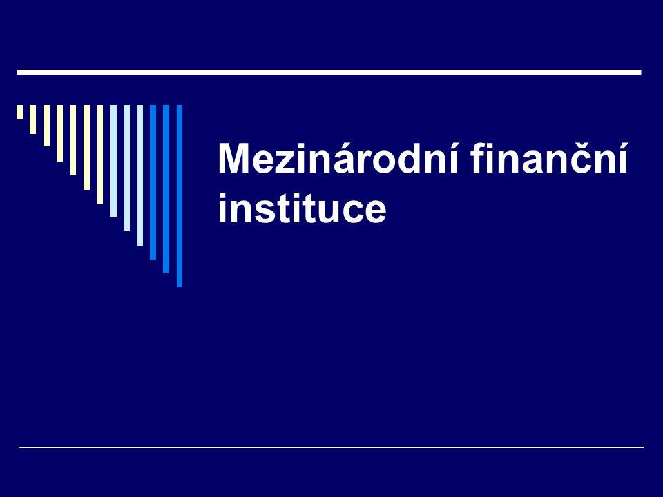 Mezinárodní finanční instituce