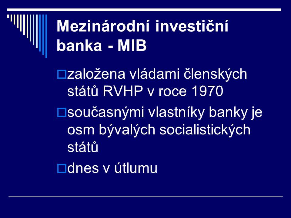 Mezinárodní investiční banka - MIB